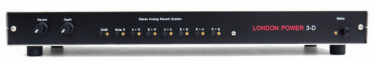 London Power 3-D Analog Stereo Reverb Unit