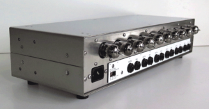 London Power's ICON 6-Channel All-Tube Preamp rear with tubes