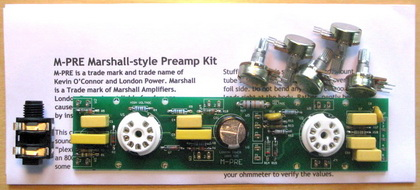 M-Pre Preamp kits with notes