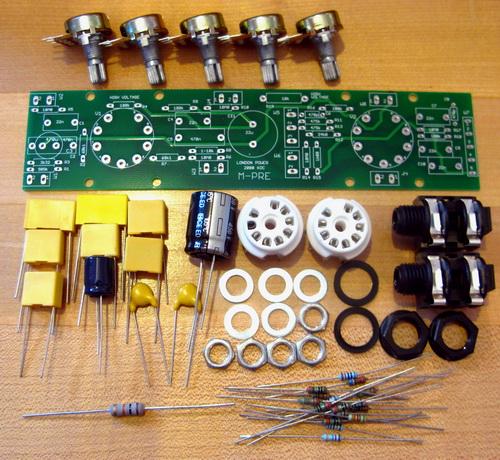 London Power M-PRE Preamp Kit parts