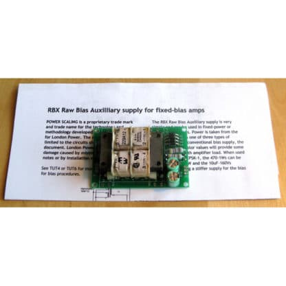 London Power's RBX Raw Bias Auxiliary Supply Kit