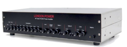 London Power STUDIO amp from an angle