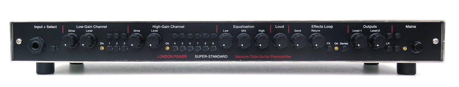 London Power's SUPER STANDARD Tube Guitar Preamplifier