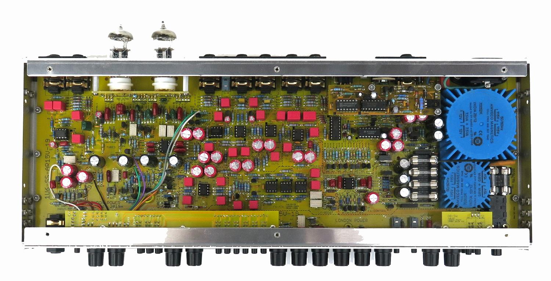 Inside a London Power Super Standard tube guitar preamplifier